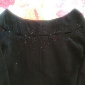 Kenar Size Medium Black Off Shoulder Beaded Shirt